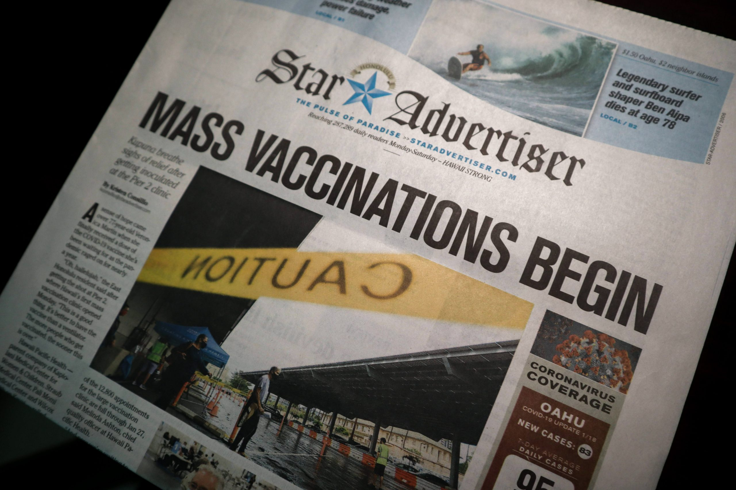 News story vaccinations begin